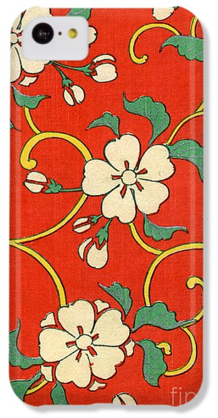Flowers iPhone 5c Case - Woodblock Print Of Apple Blossoms by Japanese School