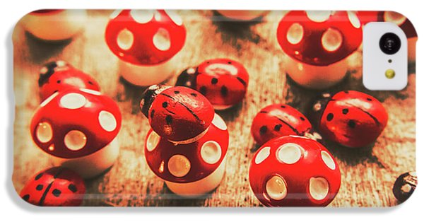 Beetle iPhone 5c Case - Wooden Bugs And Plastic Toadstools by Jorgo Photography - Wall Art Gallery