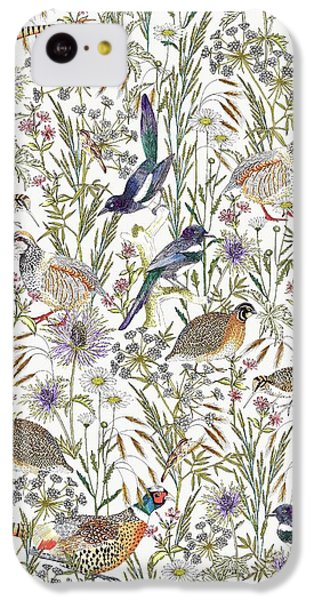Magpies iPhone 5c Case - Woodland Edge Birds by Jacqueline Colley