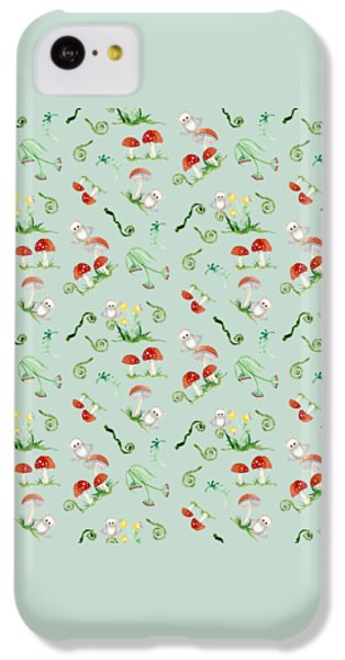 Woodland Fairy Tale - Red Mushrooms N Owls IPhone 5c Case by Audrey Jeanne Roberts