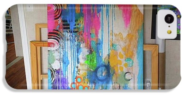 iPhone 5c Case - Working On A New Plywood..5 Ft X 3.5 Ft by Robin Mead
