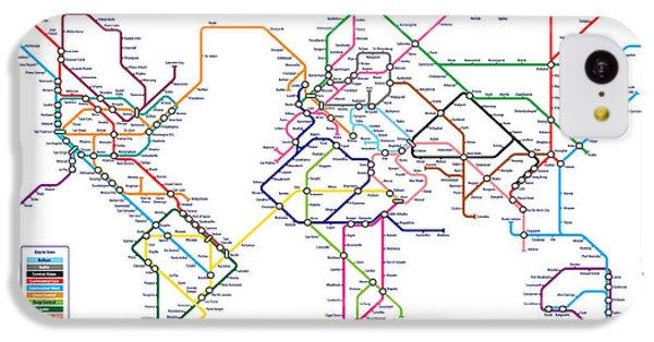 World Metro Tube Subway Map IPhone 5c Case