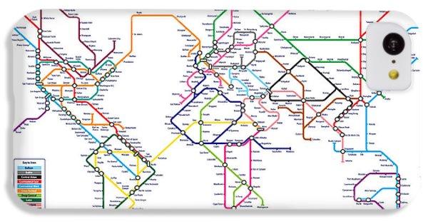 World Metro Tube Subway Map IPhone 5c Case by Michael Tompsett