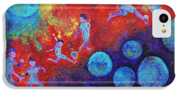 IPhone 5c Case featuring the painting World Soccer Dreams by Claire Bull