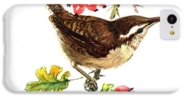 Wren And Rosehips IPhone 5c Case by Nell Hill