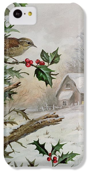 Wren In Hollybush By A Cottage IPhone 5c Case