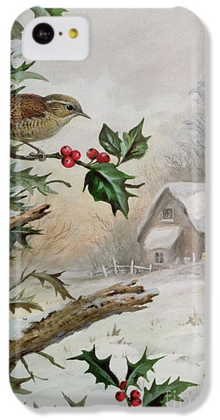 Wren In Hollybush By A Cottage IPhone 5c Case by Carl Donner