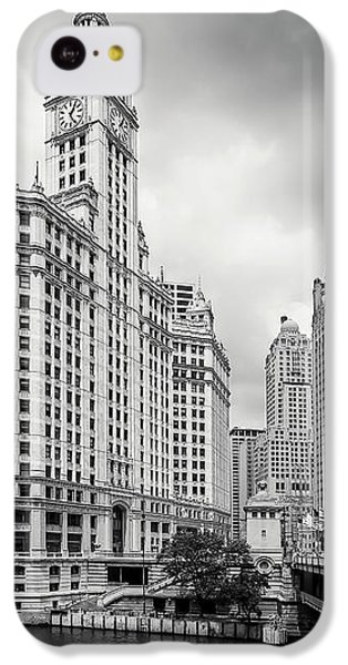 IPhone 5c Case featuring the photograph Wrigley Building Chicago by Adam Romanowicz