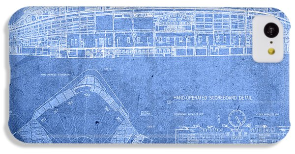 Wrigley Field Chicago Illinois Baseball Stadium Blueprints IPhone 5c Case