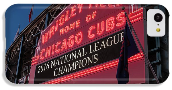 Wrigley Field Marquee Cubs National League Champs 2016 IPhone 5c Case by Steve Gadomski