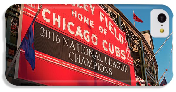 Wrigley Field Marquee Angle IPhone 5c Case by Steve Gadomski