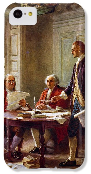 Writing The Declaration Of Independence, 1776, IPhone 5c Case by Leon Gerome Ferris