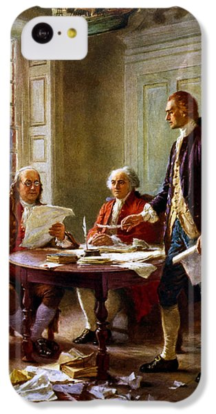 Thomas Jefferson iPhone 5c Case - Writing The Declaration Of Independence by War Is Hell Store