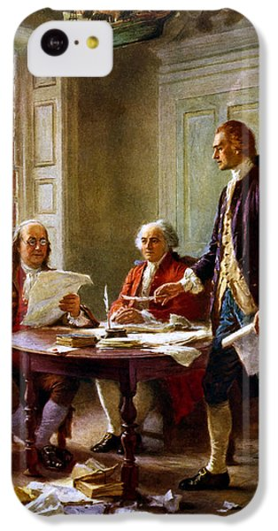 Writing The Declaration Of Independence IPhone 5c Case by War Is Hell Store