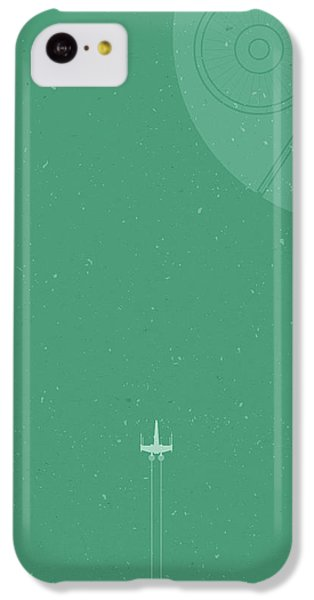 X-wing Meets Death Star IPhone 5c Case by Samuel Whitton