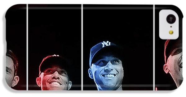 Derek Jeter iPhone 5c Case - Yankee Core Four By Gbs by Anibal Diaz