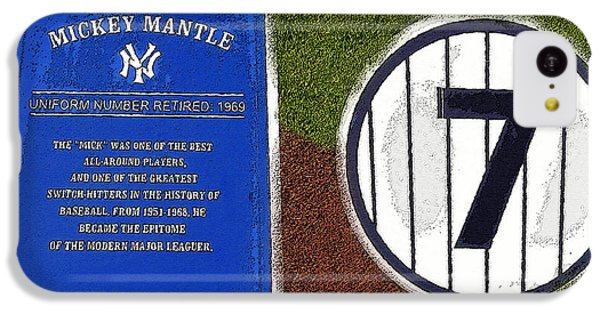 Yankee Legends Number 7 IPhone 5c Case by David Lee Thompson