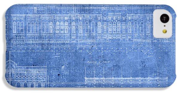 Yankee Stadium New York City Blueprints IPhone 5c Case by Design Turnpike