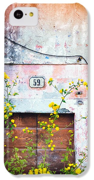 Yellow Flowers And Decayed Wall IPhone 5c Case