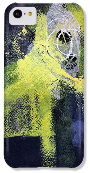 IPhone 5c Case featuring the painting Yellow Splash by Nancy Merkle