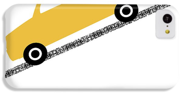 Truck iPhone 5c Case - Yellow Truck On Road- Art By Linda Woods by Linda Woods