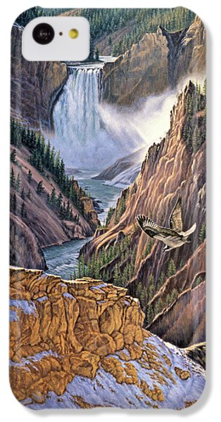 Yellowstone Canyon-osprey IPhone 5c Case by Paul Krapf
