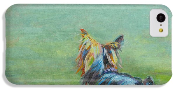 Robin iPhone 5c Case - Yorkie In The Grass by Kimberly Santini