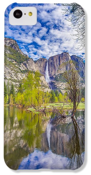 Yosemite Falls In Spring Reflection IPhone 5c Case