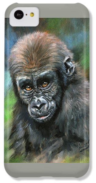 Young Gorilla IPhone 5c Case by David Stribbling