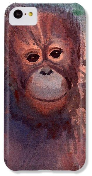 Young Orangutan IPhone 5c Case by Donald Maier