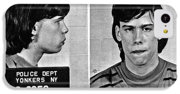 Young Steven Tyler Mug Shot 1963 Pencil Photograph Black And White IPhone 5c Case
