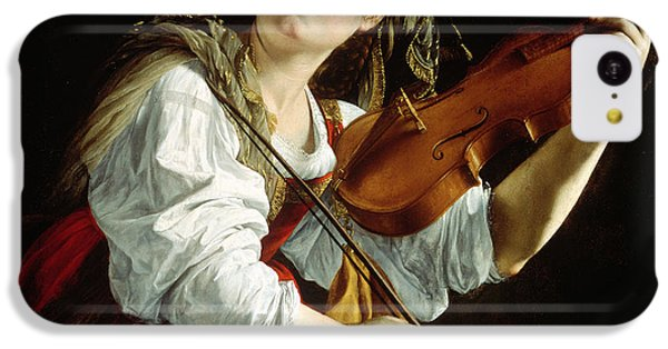 Violin iPhone 5c Case - Young Woman With A Violin by Orazio Gentileschi