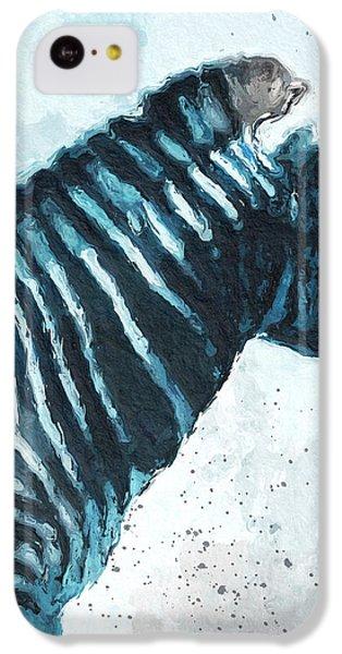 Zebra- Art By Linda Woods IPhone 5c Case by Linda Woods