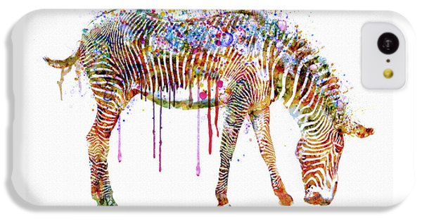 Zebra Watercolor Painting IPhone 5c Case