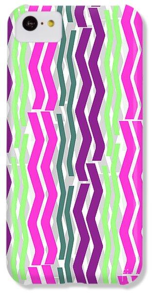 Zig Zig Stripes IPhone 5c Case