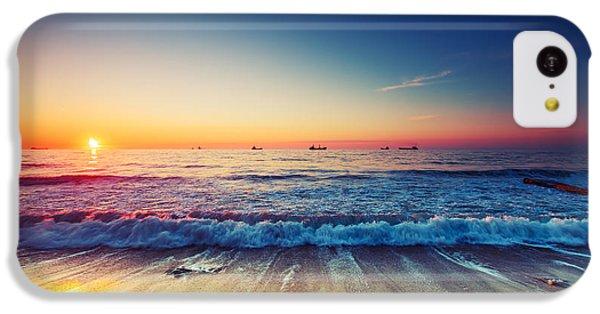 Beautiful Sunrise iPhone 5c Case - Beautiful Sunrise Over The Horizon by Valentin Valkov