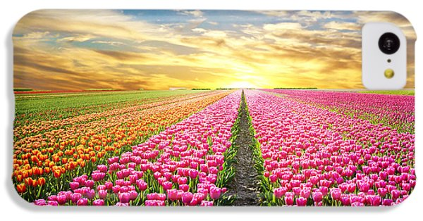 Beautiful Sunrise iPhone 5c Case - A Magical Landscape With Sunrise Over by Andrij Vatsyk