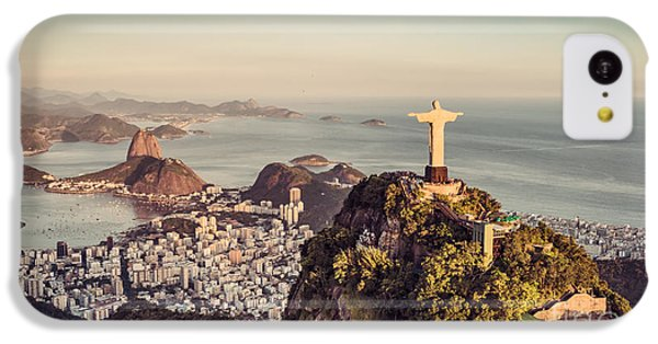 South America iPhone 5c Case - Aerial Panorama Of Botafogo Bay And by Marchello74