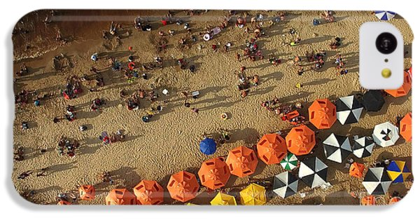 South America iPhone 5c Case - Aerial View Of Beach In Rio De Janeiro by Esb Professional