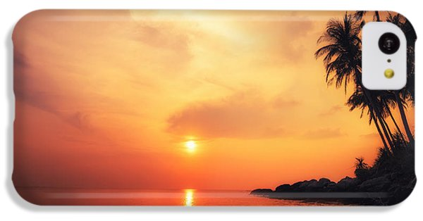 Beautiful Sunrise iPhone 5c Case - Amazing Colors Of Tropical Sunset by Perfect Lazybones