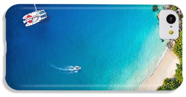 Navigation iPhone 5c Case - Amazing View To Yacht In Bay With Beach by Im photo