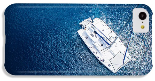 Navigation iPhone 5c Case - Amazing View To Yacht Sailing In Open by Im photo