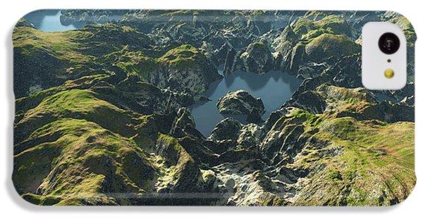 South America iPhone 5c Case - Amazon River Birds Eye View by Dariush M