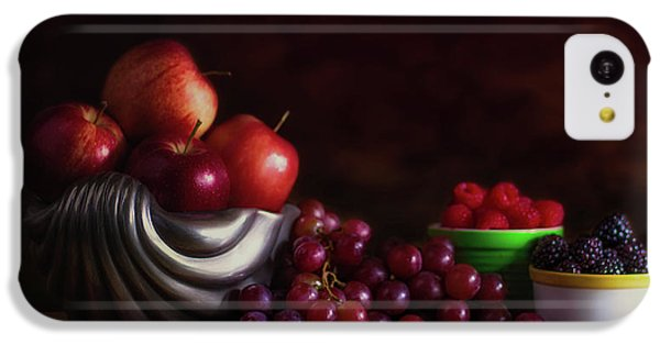 Fruit Bowl iPhone 5c Case - Apples With Grapes And Berries Still Life by Tom Mc Nemar