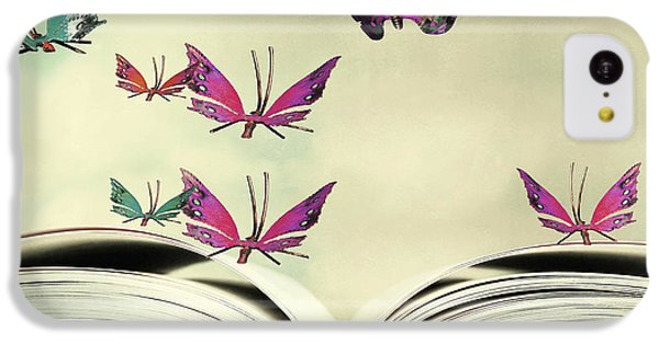 Fairy iPhone 5c Case - Artistic Image Of An Open Book And by Valentina Photos