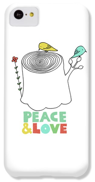 Valentines Day iPhone 5c Case - Peace And Love by Eric Fan