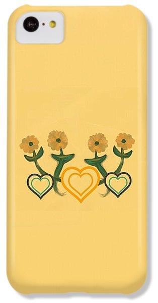 The Art Of Gandy iPhone 5c Case - Hearts Bronze by Joan Ellen Kimbrough Gandy of The Art of Gandy