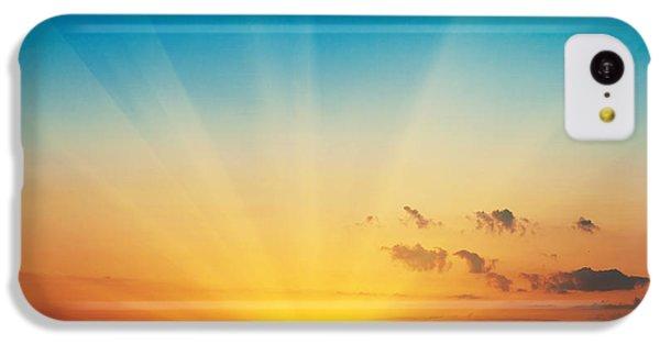 Beautiful Sunrise iPhone 5c Case - Beautiful Blazing Sunset Landscape At by Ievgenii Meyer