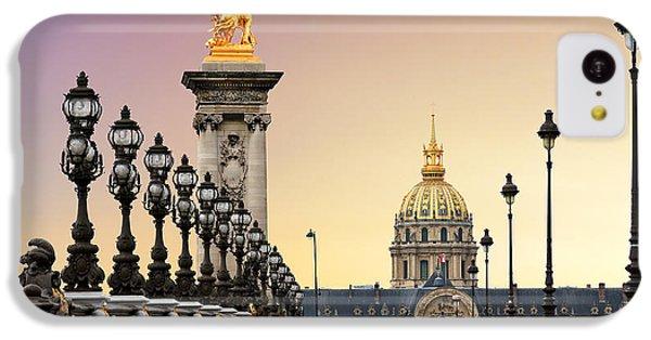 Beautiful Sunrise iPhone 5c Case - Beautiful Sunrise At The Pont Alexandre by Dennis Van De Water
