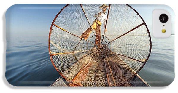 Beautiful Sunrise iPhone 5c Case - Burma Myanmar Inle Lake Fisherman On by Banana Republic Images